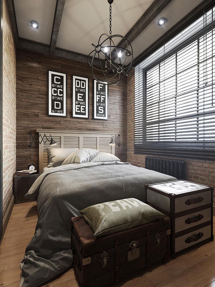 Idee per arredare una camera da letto in stile industriale n.06
