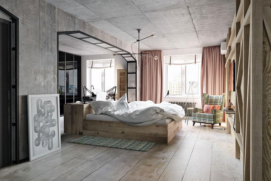 Idee per arredare una camera da letto in stile industriale n.09