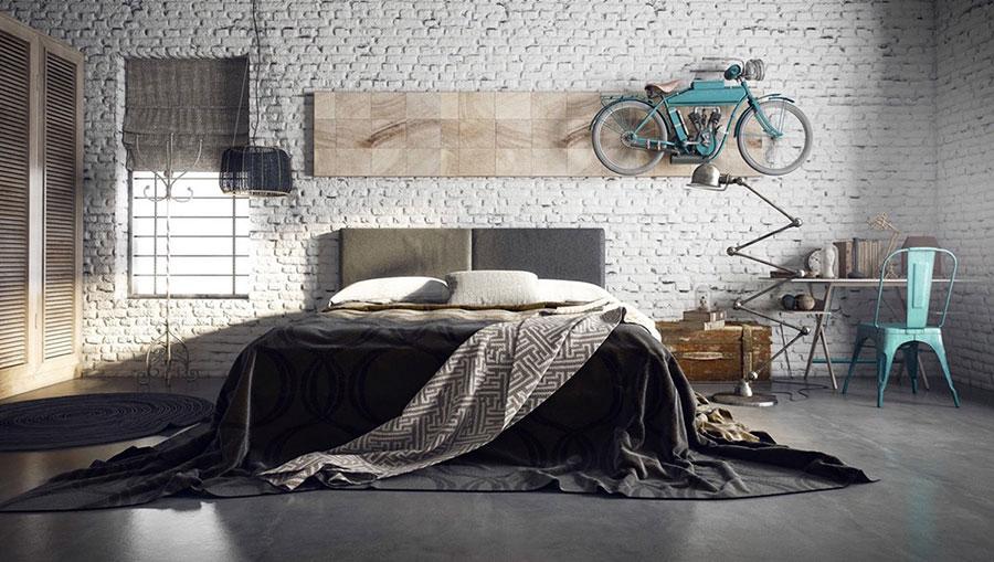 Idee per arredare una camera da letto in stile industriale n.10