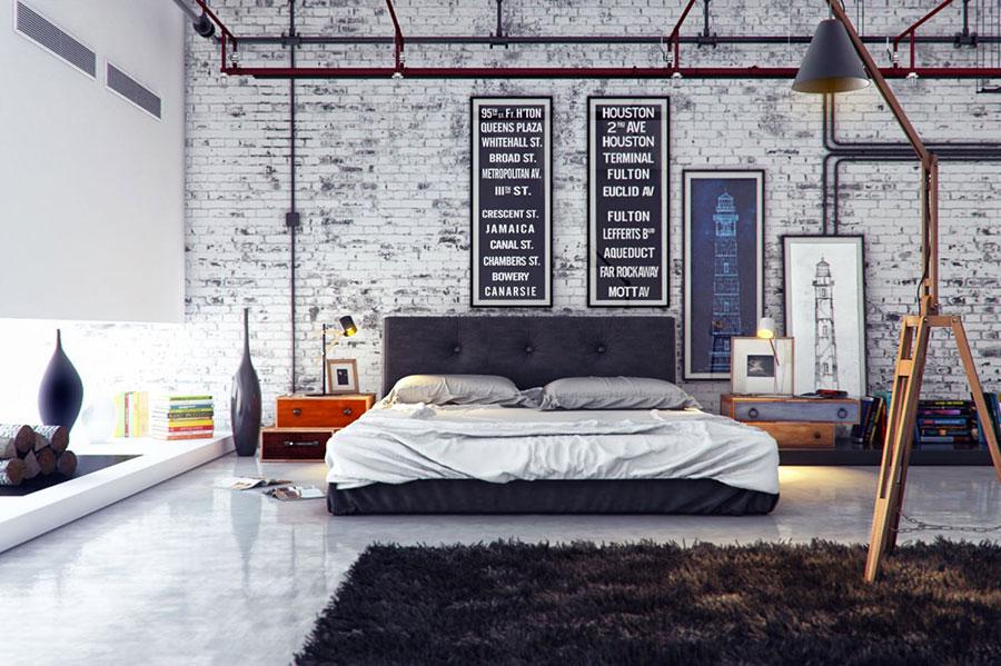 Idee per arredare una camera da letto in stile industriale n.12