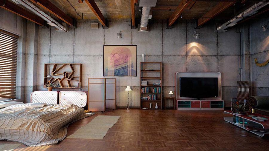 Idee per arredare una camera da letto in stile industriale n.13