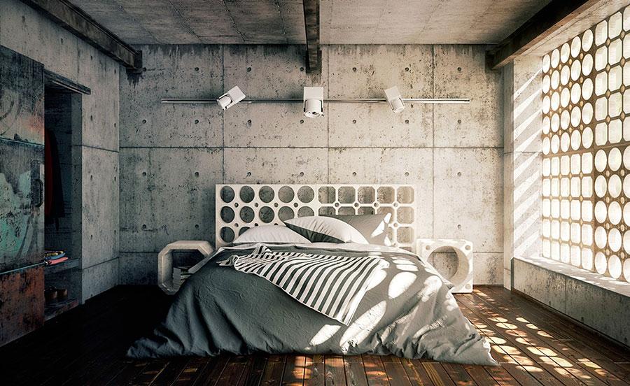 Idee per arredare una camera da letto in stile industriale n.14