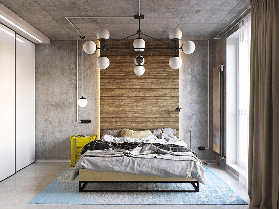 Idee per arredare una camera da letto in stile industriale n.15