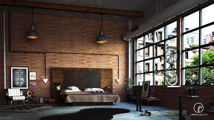 Idee per arredare una camera da letto in stile industriale n.17