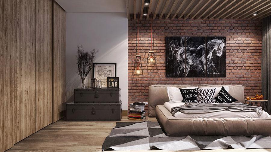 Idee per arredare una camera da letto in stile industriale n.19