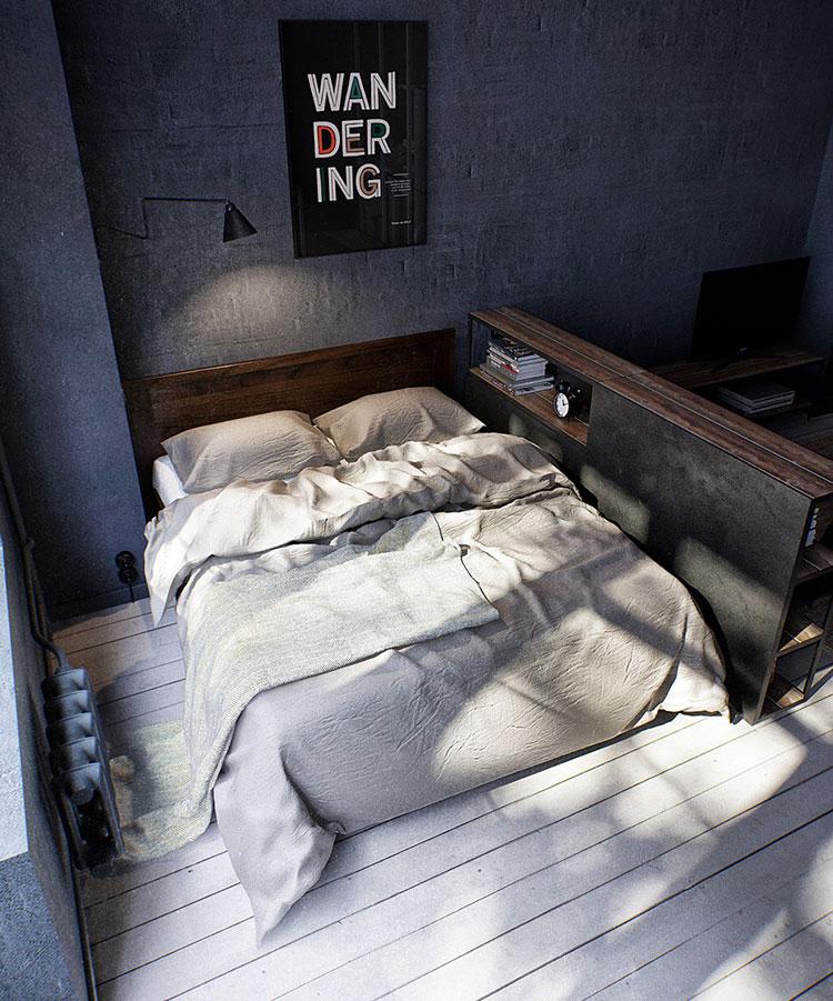Idee per arredare una camera da letto in stile industriale n.21
