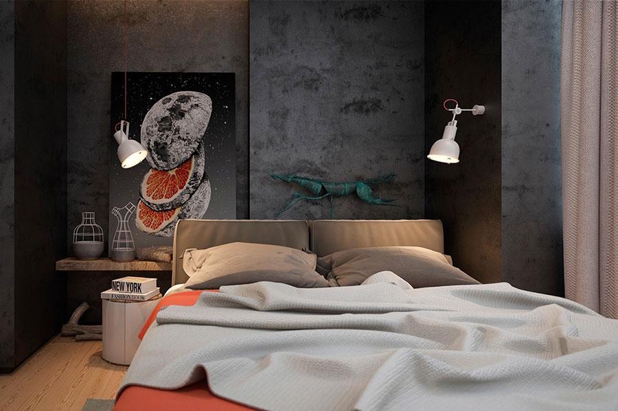 Idee per arredare una camera da letto in stile industriale n.22