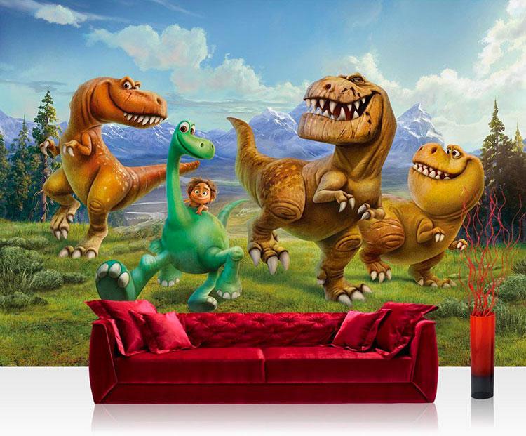 Carta da parati con dinosauri per la cameretta dei bambini n.02