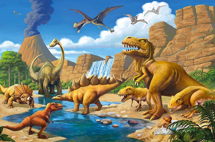 Carta da parati con dinosauri per la cameretta dei bambini n.03