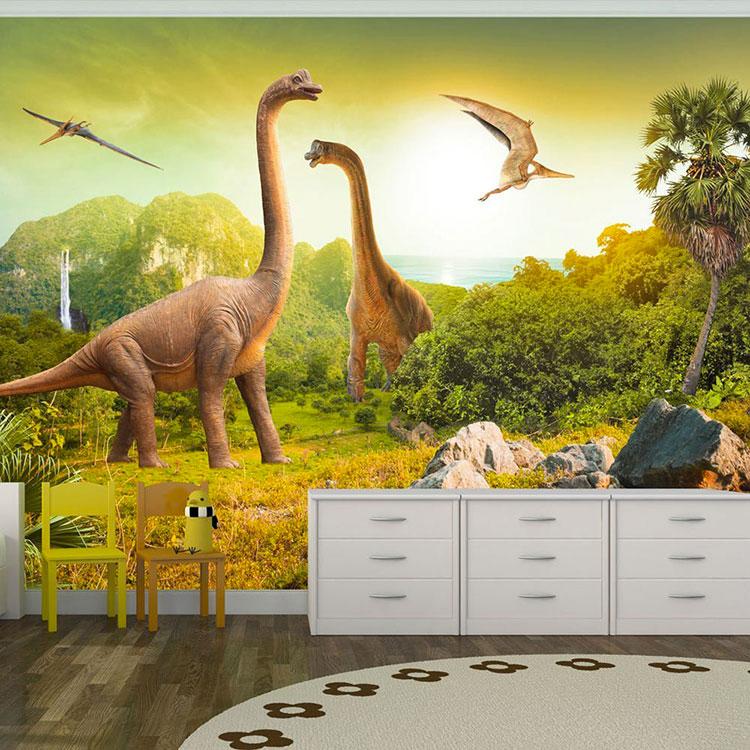 Carta da parati con dinosauri per la cameretta dei bambini n.04