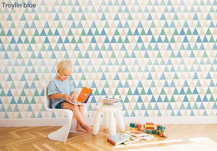 Modello di carta da parati astratta per la cameretta dei bambini n.10