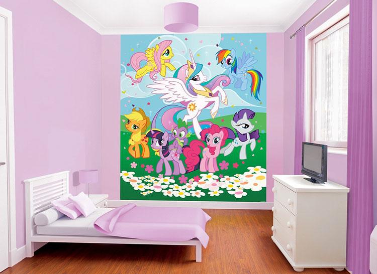 Carta da parati di My Little Pony per camerette di bambini