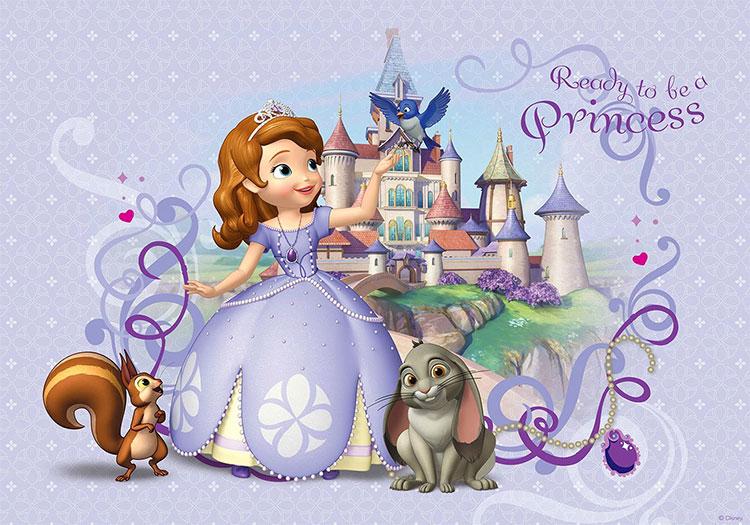Carta da parati di Principessa Sofia per camerette di bambini