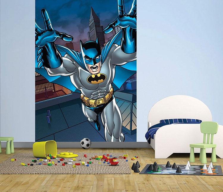 Carta da parati di Batman per camerette di bambini n.01