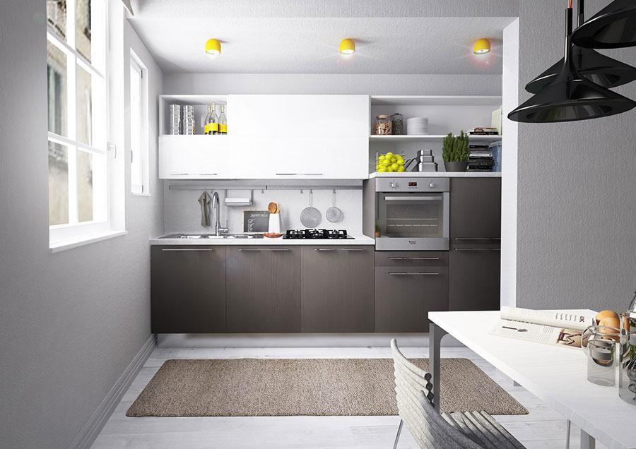 Modello di cucina bianca e grigia moderna n.16