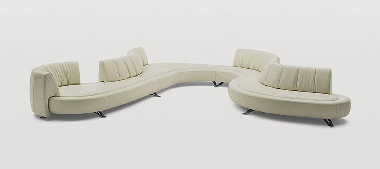 Modello di divano curvo dal design particolare n.01