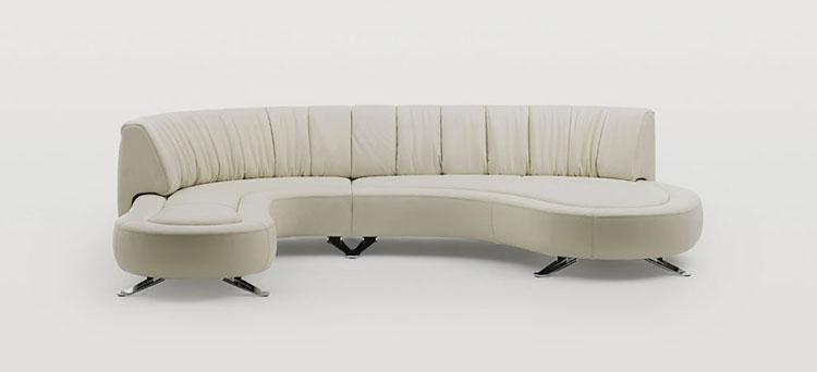 Modello di divano curvo dal design particolare n.02