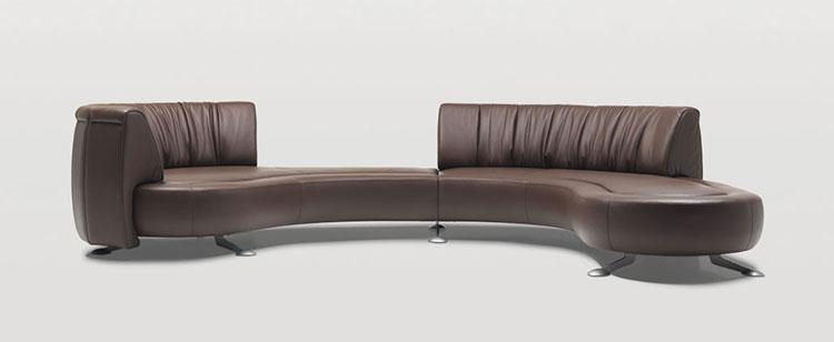 Modello di divano curvo dal design particolare n.03