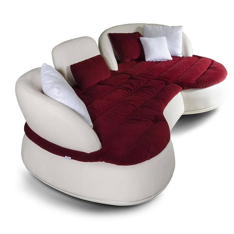 Modello di divano curvo dal design particolare n.07