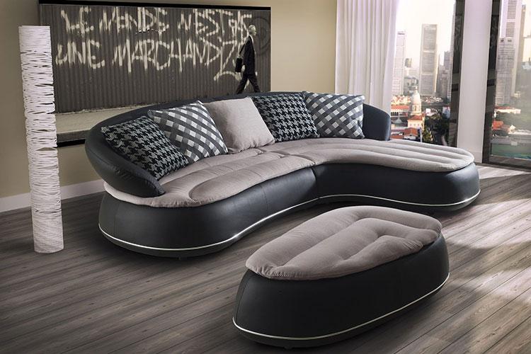 Modello di divano curvo dal design particolare n.09