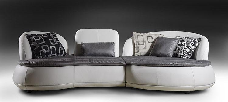 Modello di divano curvo dal design particolare n.10