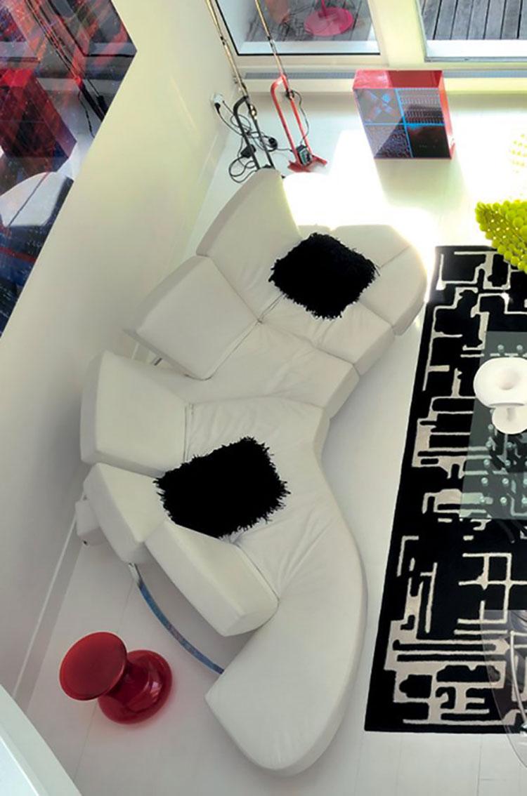 Modello di divano curvo dal design particolare n.11