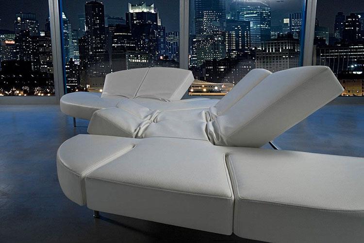 Modello di divano curvo dal design particolare n.12