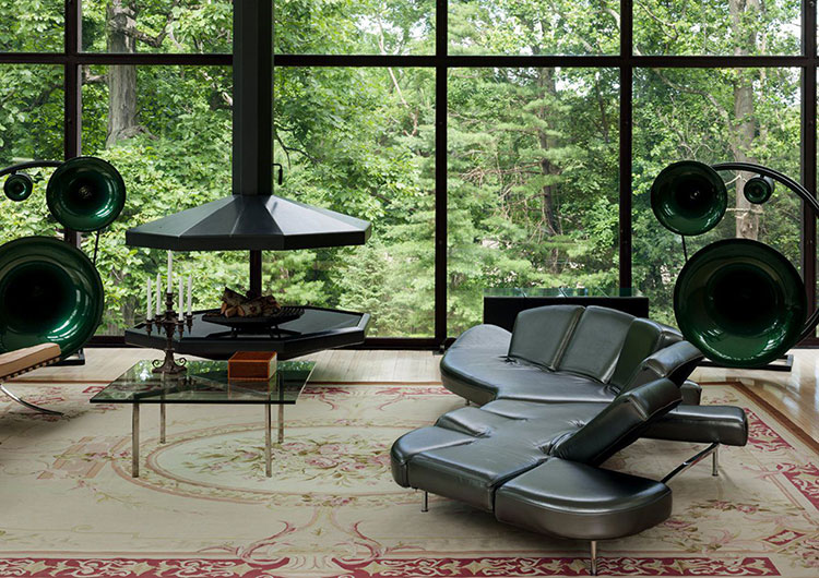 Modello di divano curvo dal design particolare n.13