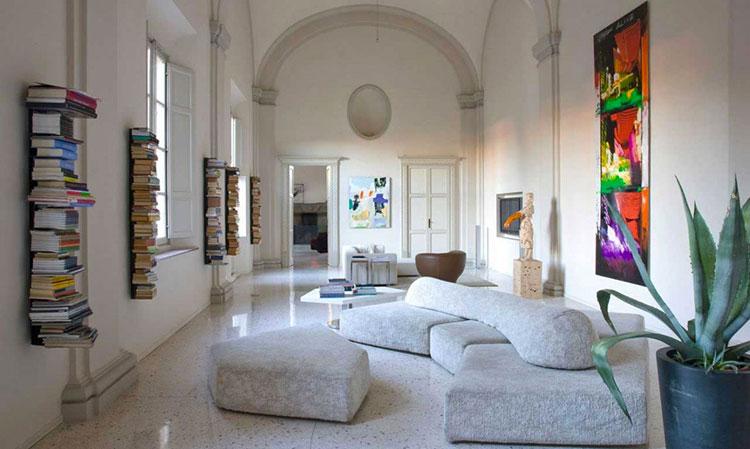 Modello di divano curvo dal design particolare n.15