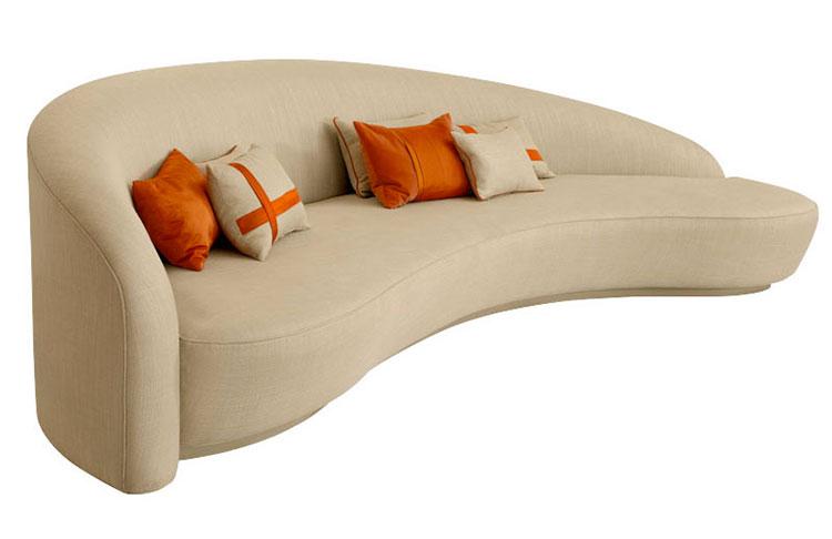 Modello di divano curvo dal design particolare n.19