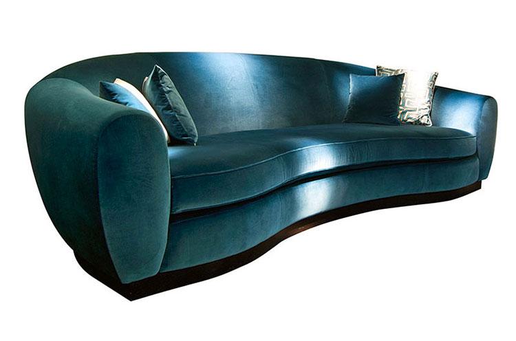 Modello di divano curvo dal design particolare n.20
