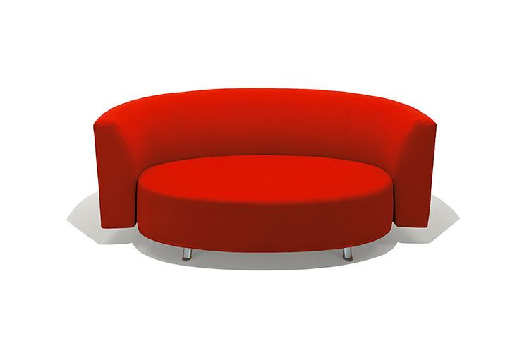 Modello di divano curvo dal design particolare n.21