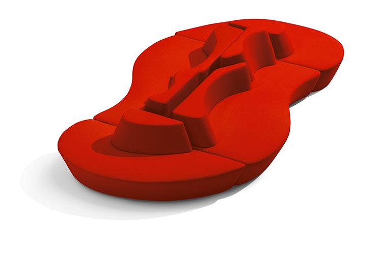 Modello di divano curvo dal design particolare n.24