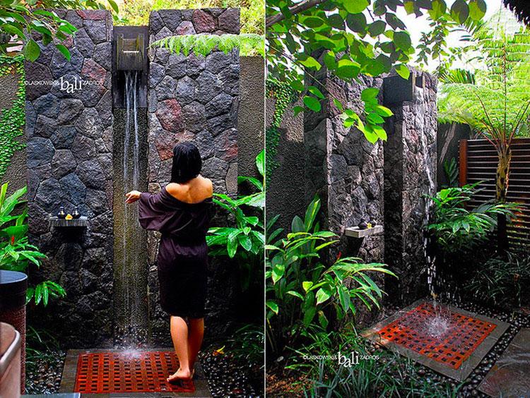 Idee per creare una doccia da giardino da sogno in stile zen n.03