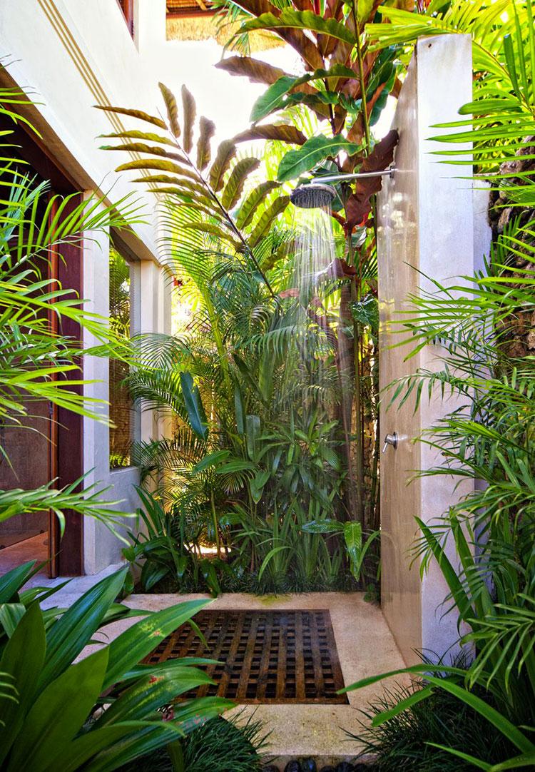 Idee per creare una doccia da giardino da sogno in stile zen n.05