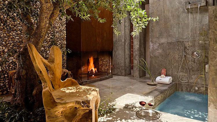 Idee per creare una doccia da giardino da sogno in stile zen n.11