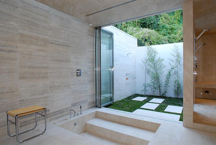Idee per creare una doccia da giardino da sogno in stile zen n.20
