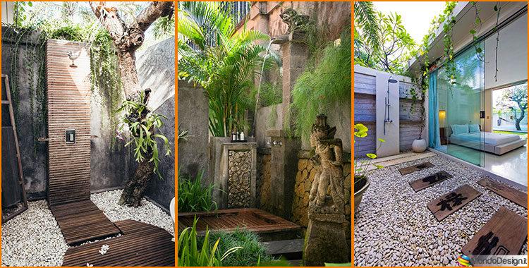 Doccia da giardino da sogno 20 idee per creare un angolo for Idee per creare un giardino