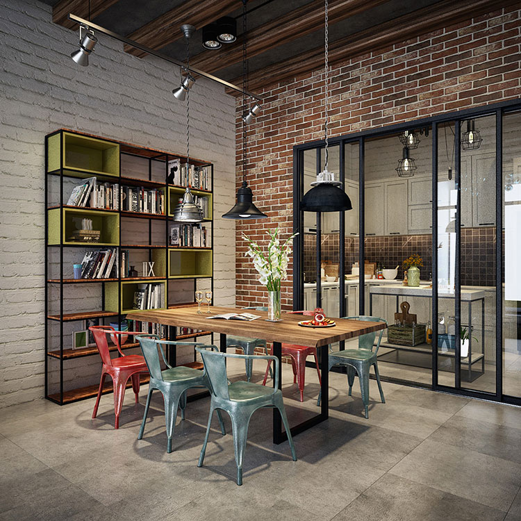 Come Arredare una Sala Da Pranzo in Stile Industriale | MondoDesign.it