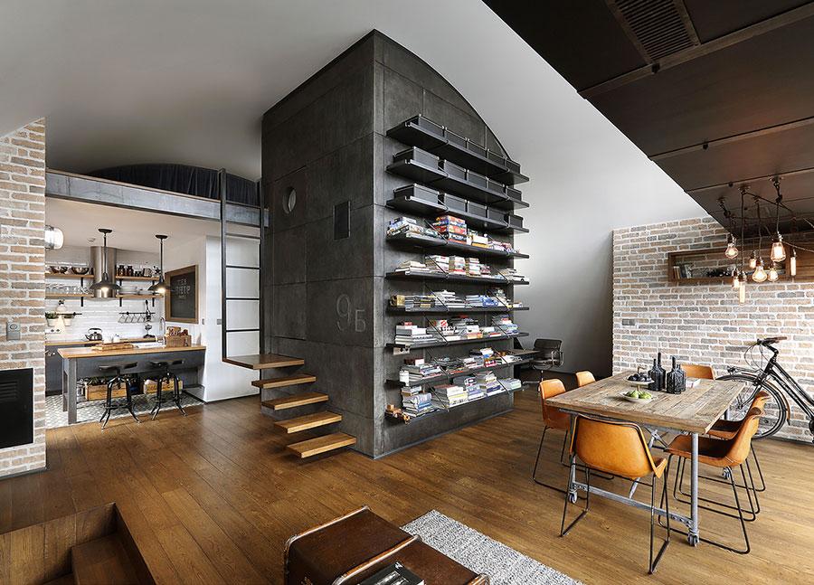 Arredamento per sala da pranzo in stile industriale n.04