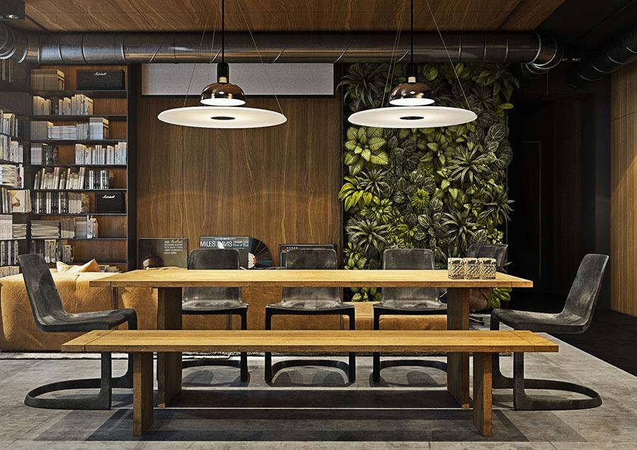 Arredamento per sala da pranzo in stile industriale n.14