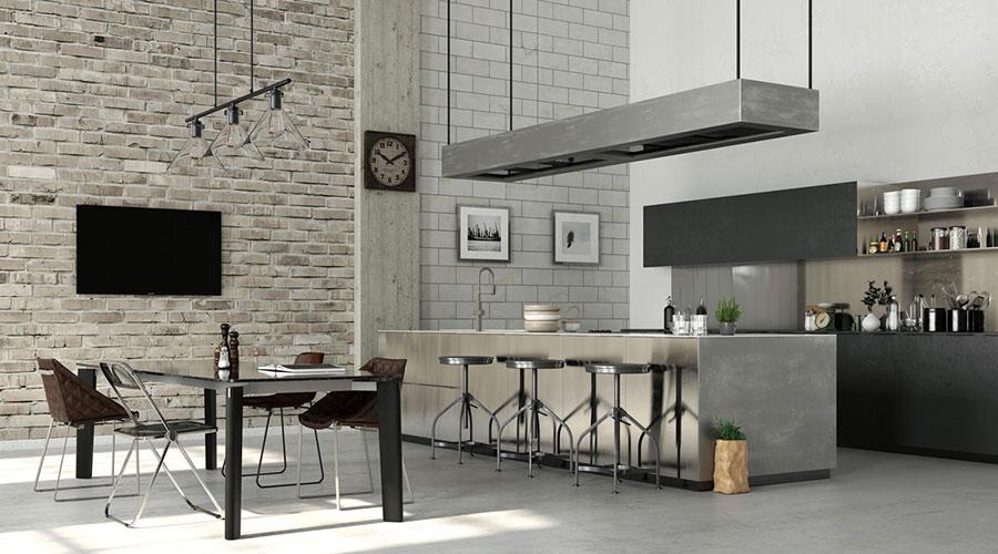 Arredamento per sala da pranzo in stile industriale n.17