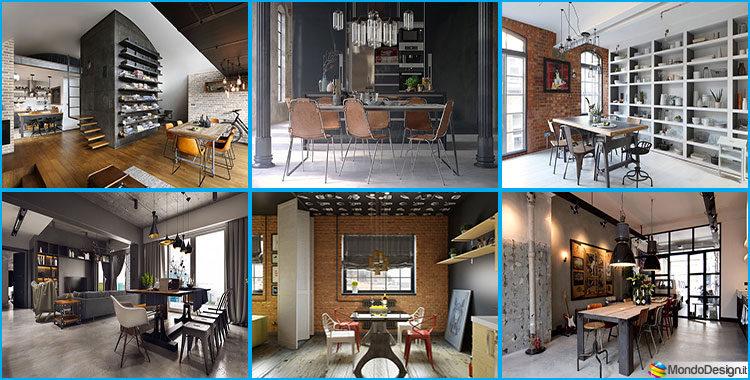 Come arredare una sala da pranzo in stile industriale for Sala da pranzo foto