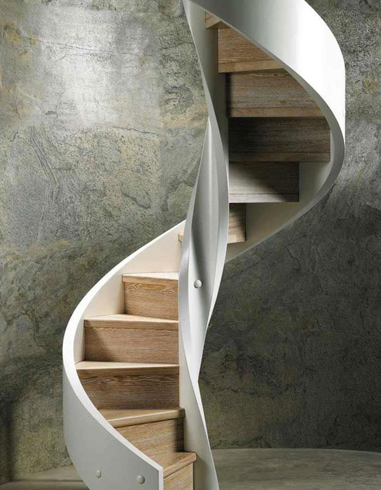 Modello di scala in legno per interni dal design moderno n.10