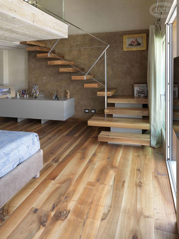 Modello di scala in legno per interni dal design moderno n.25