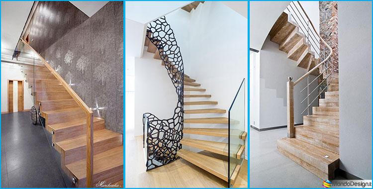 25 spettacolari esempi di scale moderne per interni - Scale in legno per interno ...