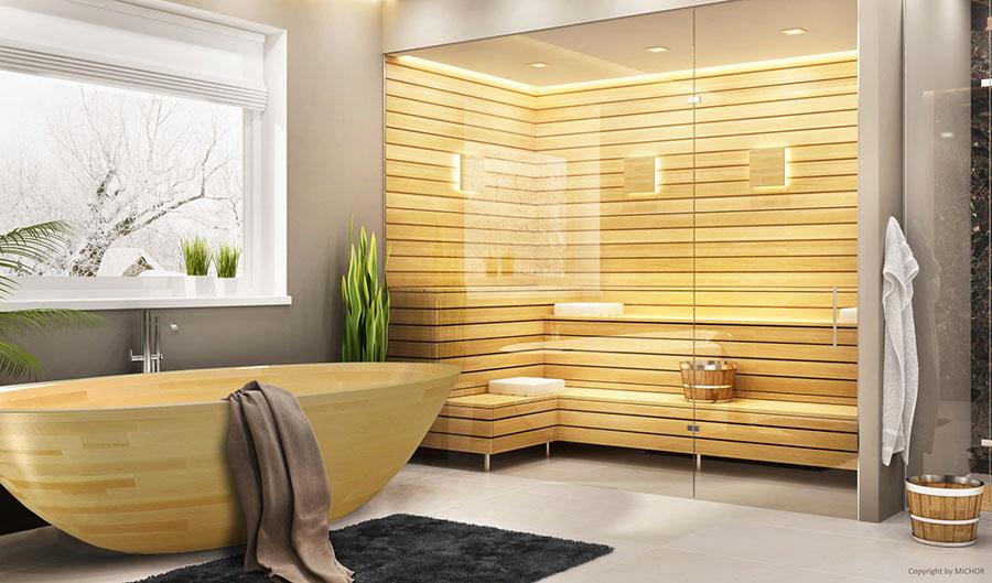 Vasca da bagno in legno da appoggio ovale n.01
