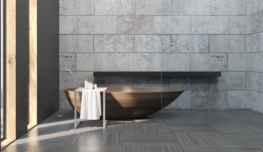 Vasca da bagno in legno da appoggio ovale n.05