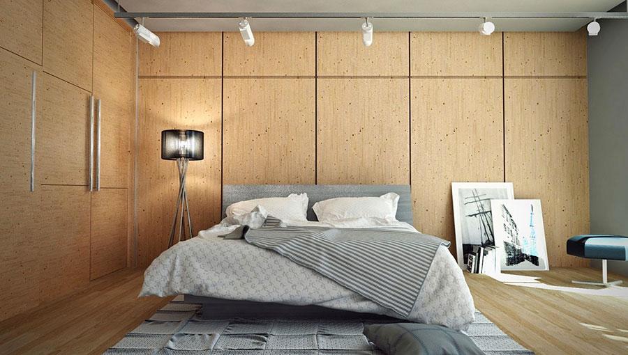 20 idee di arredo per camere da letto in legno dal design moderno - Camera da letto marrone ...