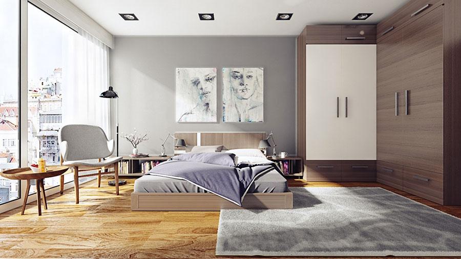 Idee per arredare una camera da letto in legno dal design moderno n.05